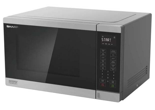 Midsized Microwave - Silver - 1200W
