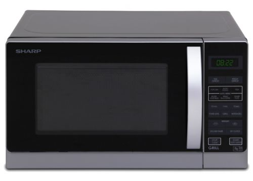 Compact Grill Microwave - Silver - 750W