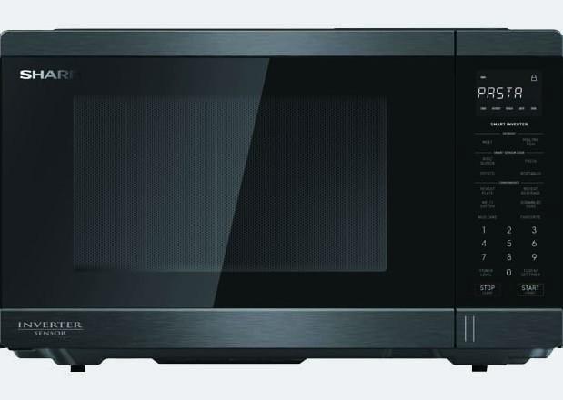 Midsized Microwave - Black Stainless - 1200W