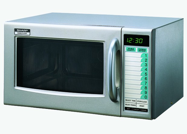Commercial Microwave - 1000W - Stainless