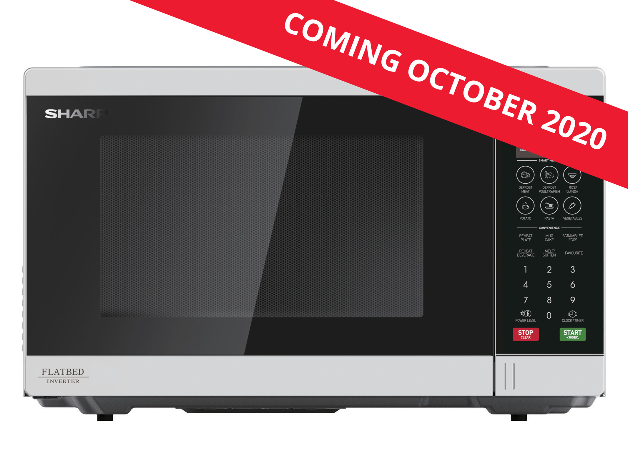 Flatbed Microwave 1200W - White
