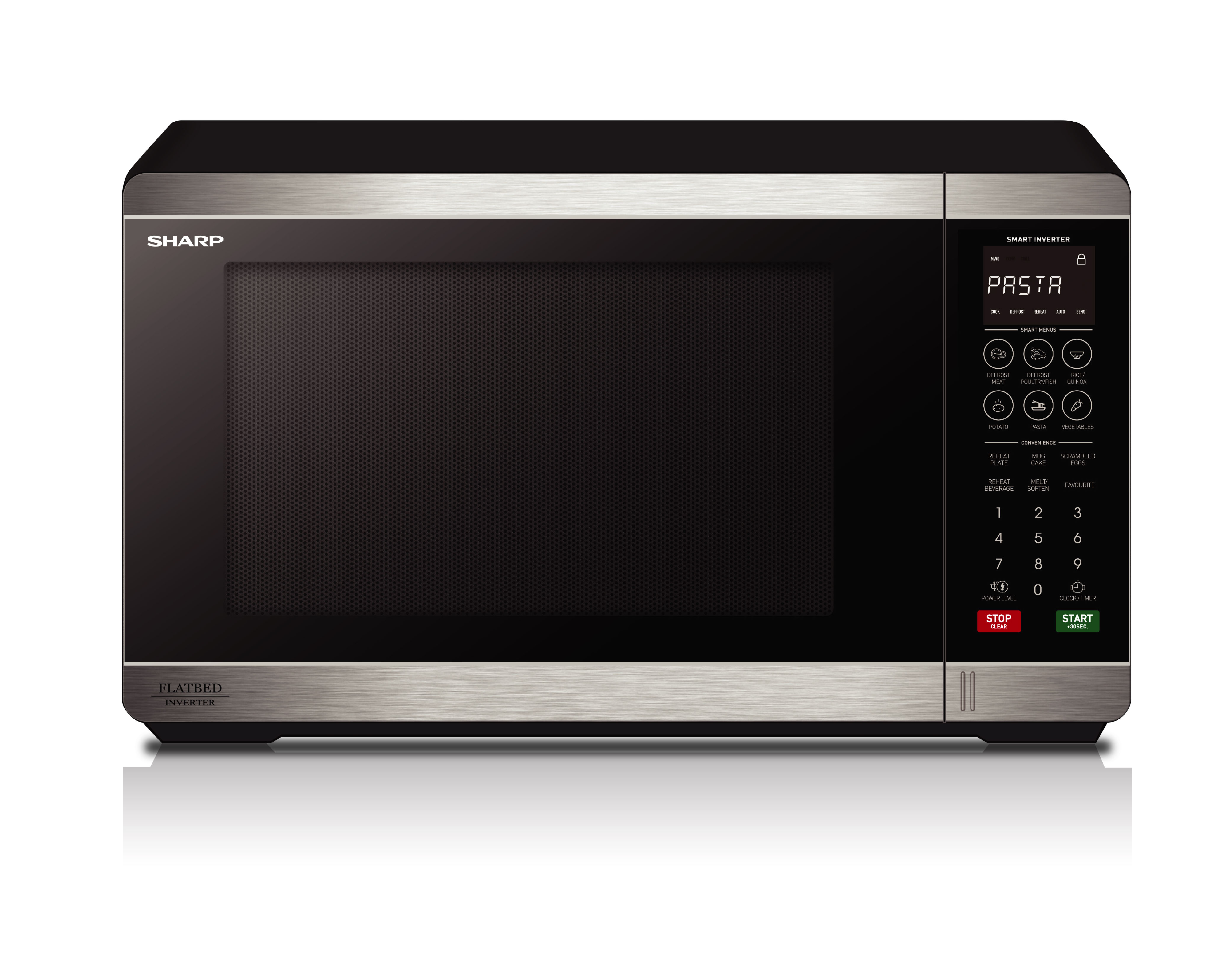 Flatbed Microwave 1200W - Stainless Steel